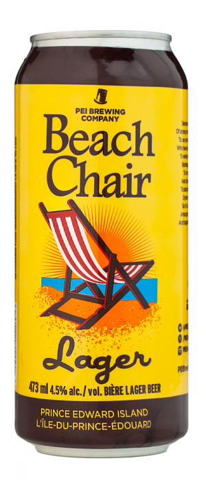 Beach Chair Lager by Prince Edward Island Brewing Co.  in Prince Edward Island, Canada