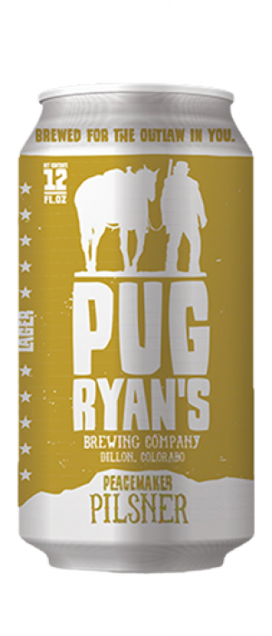 Peacemaker Pilsner by Pug Ryan's Brewing Company in Colorado, United States