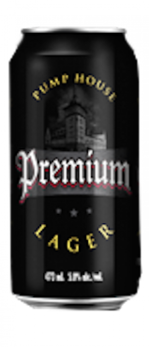Premium Lager by Pump House Brewery in New Brunswick, Canada
