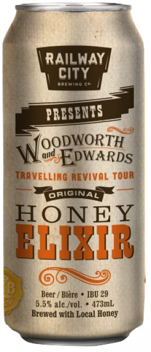 Honey Elixir by Railway City Brewing Company in Ontario, Canada