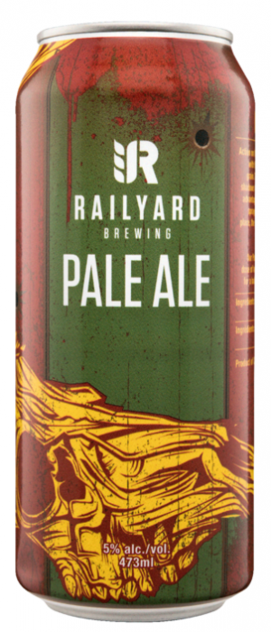 Railyard Pale Ale by Railyard Brewing in Alberta, Canada