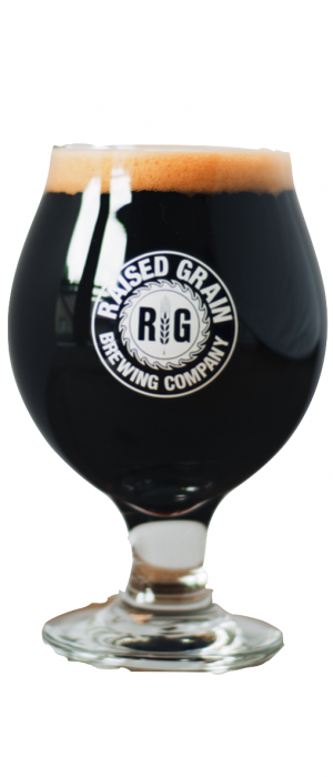 Black Walnut Belgian Imperial Stout by Raised Grain Brewing Company in Wisconsin, United States