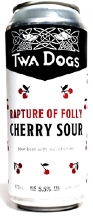 Twa Dogs Rapture of Folly Cherry Sour by Victoria Caledonian Brewery & Distillery in British Columbia, Canada