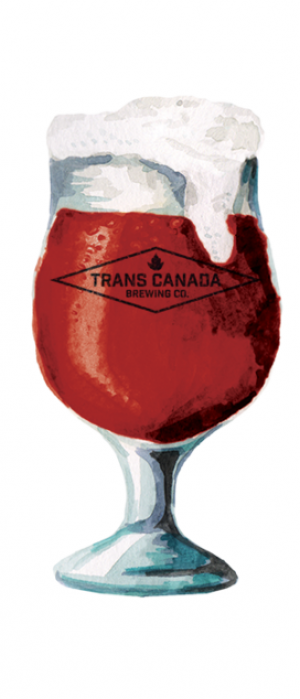 Raspberry Ale by Trans Canada Brewing Co. in Manitoba, Canada