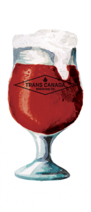 Raspberry Sour Ale by Trans Canada Brewing Co. in Manitoba, Canada