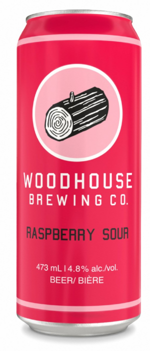 Raspberry Sour by Woodhouse Brewing Co. in Ontario, Canada