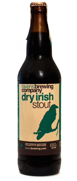 Dry Irish Stout by Ravens Brewing Company in British Columbia, Canada