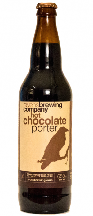Hot Chocolate Porter by Ravens Brewing Company in British Columbia, Canada