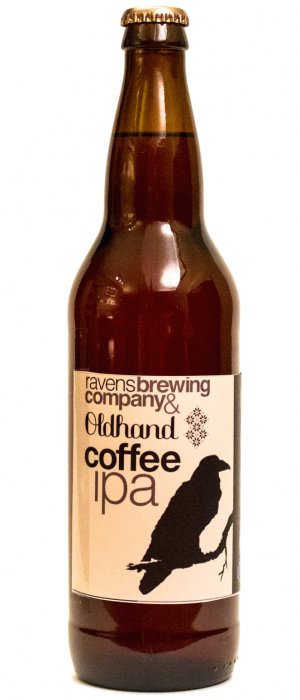 Oldhand Coffee IPA by Ravens Brewing Company in British Columbia, Canada