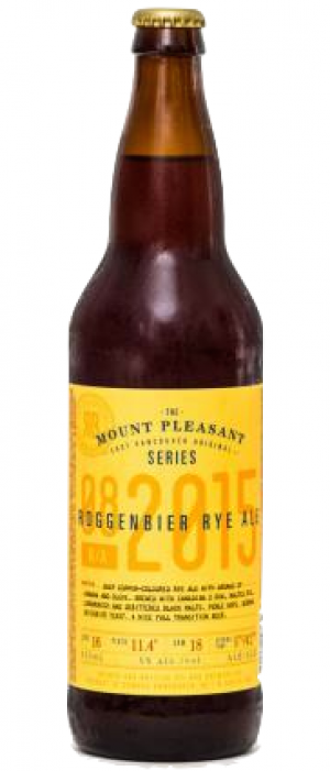 Mt. Pleasant Roggenbier Rye Ale by R&B Brewing in British Columbia, Canada