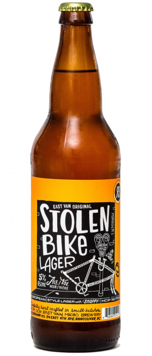 Stolen Bike Lager by R&B Brewing in British Columbia, Canada
