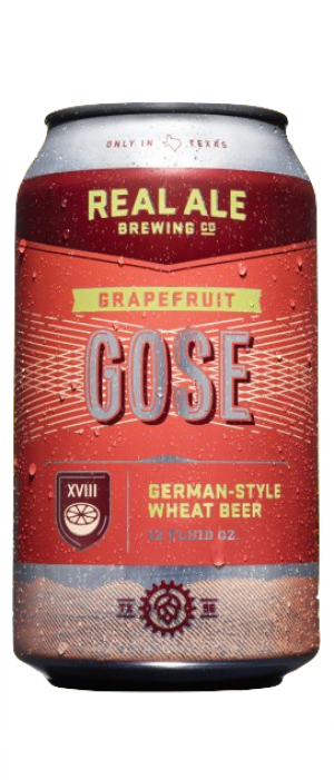 Grapefruit Gose by Real Ale Brewing Company in Texas, United States