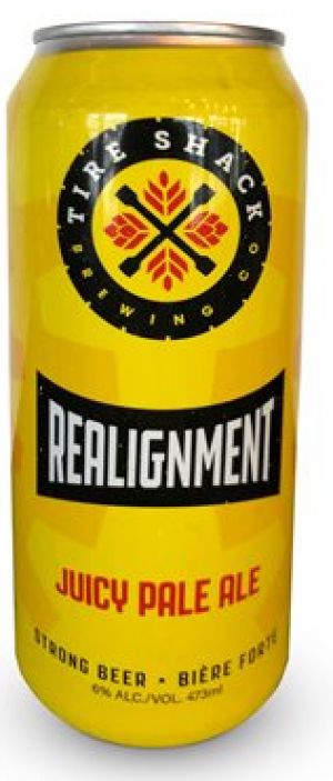 Re-alignment Juicy Pale Ale by Tire Shack Brewing Co. in New Brunswick, Canada