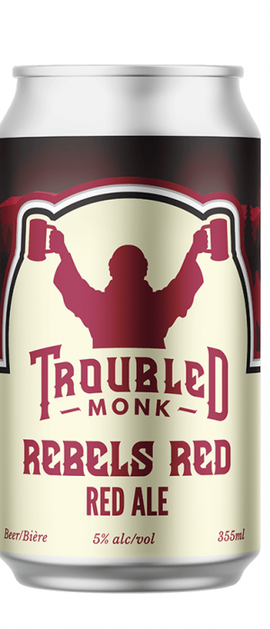 Rebels Red Red Ale by Troubled Monk Brewery in Alberta, Canada
