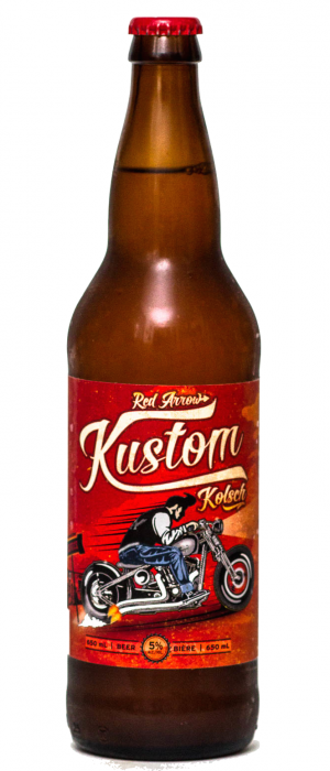 Kustom Kölsch by Red Arrow Brewing Company in British Columbia, Canada
