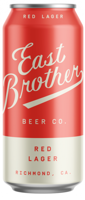 Red Lager by East Brother Beer Company in California, United States