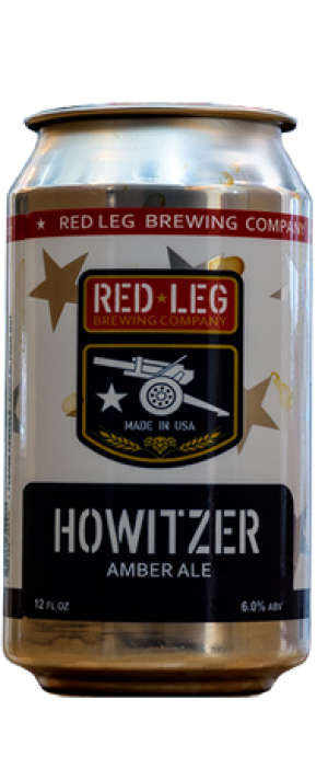 Howitzer Amber by Red Leg Brewing Company in Colorado, United States