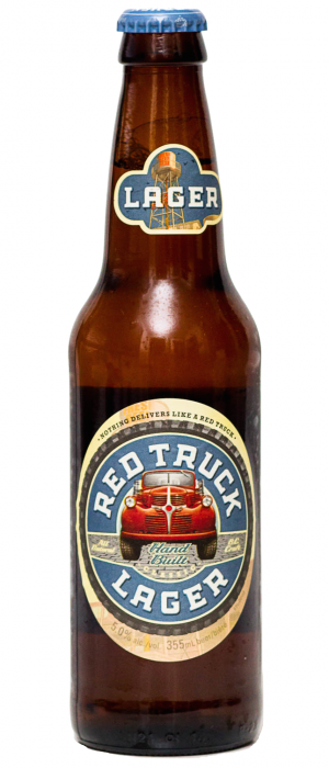 Red Truck Lager by Red Truck Beer Company in British Columbia, Canada
