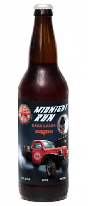 Red Truck Midnight Run Dark Lager by Red Truck Beer Company in British Columbia, Canada