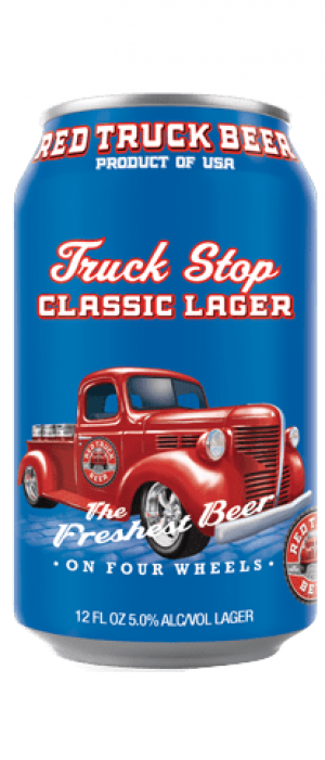 Road Trip Classic Lager by Red Truck Beer Company in British Columbia, Canada