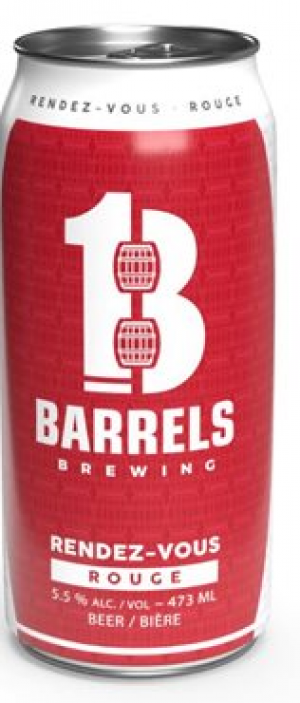 Rendez-Vous Rouge by 13 Barrels Brewing in New Brunswick, Canada