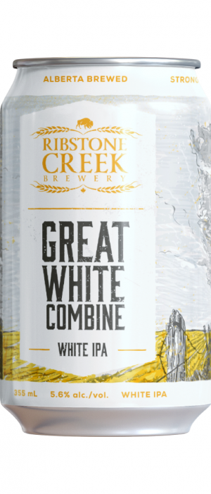 Great White Combine IPA by Ribstone Creek Brewery in Alberta, Canada