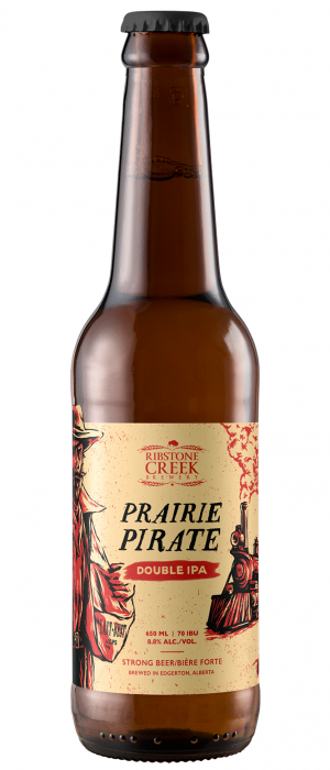 Prairie Pirate: Double IPA by Ribstone Creek Brewery in Alberta, Canada