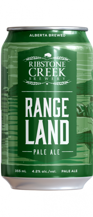 Rangeland Pale Ale by Ribstone Creek Brewery in Alberta, Canada
