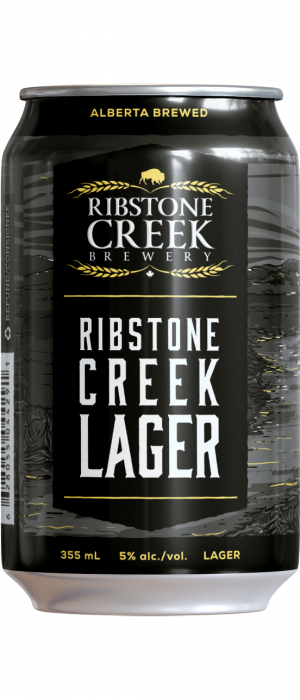 Ribstone Creek Lager by Ribstone Creek Brewery in Alberta, Canada
