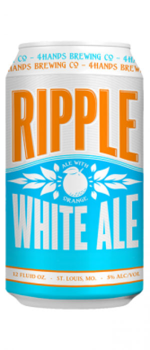 Ripple White Ale by 4 Hands Brewing Co. in Missouri, United States