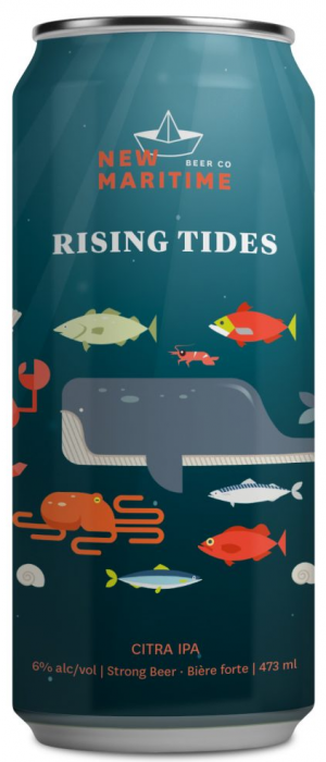Rising Tides Citra IPA by New Maritime Beer Co. in New Brunswick, Canada