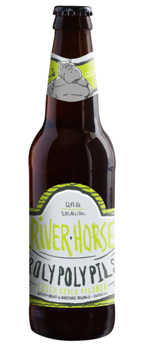 Roly Poly Pils by River Horse Brewing Company in New Jersey, United States