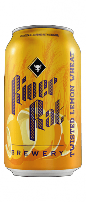 Twisted Lemon Wheat Ale by River Rat Brewery in South Carolina, United States