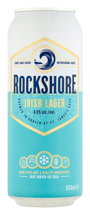 Rockshore Irish Lager by Guinness in Leinster, Ireland