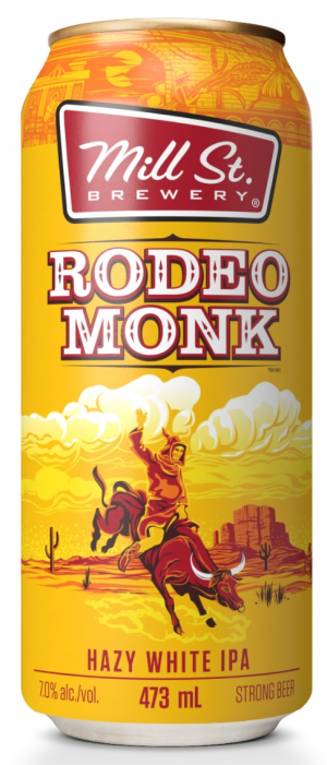 Rodeo Monk White IPA by Mill Street Brewery in Ontario, Canada
