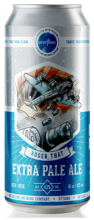 Roger That Extra Pale Ale by Overflow Brewing Company in Ontario, Canada