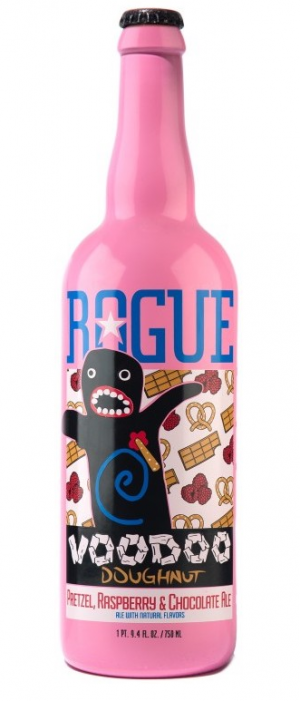 Voodoo Doughnut Pretzel, Raspberry & Chocolate Ale by Rogue in Oregon, United States