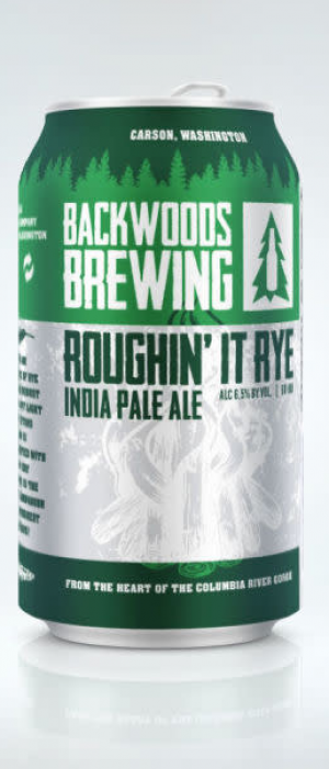 Roughin' It Rye by Backwoods Brewing Company in Washington, United States