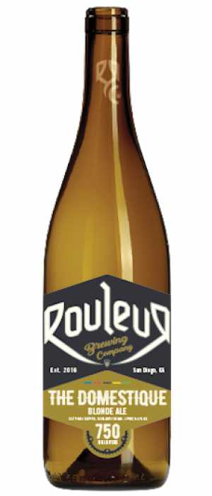 Domestique Blonde Ale by Rouleur Brewing Company in California, United States