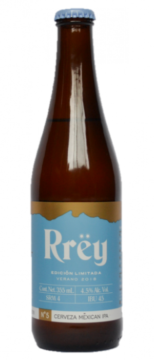 Rrëy Mëxican IPA by Cerveza Rrëy in Nuevo León, Mexico
