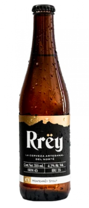 Rrëy Monterrëy Stout by Cerveza Rrëy in Nuevo León, Mexico