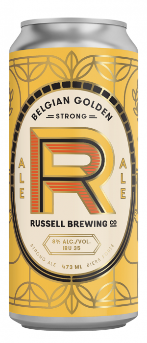 Belgian Golden Strong by Russell Brewing Company in British Columbia, Canada