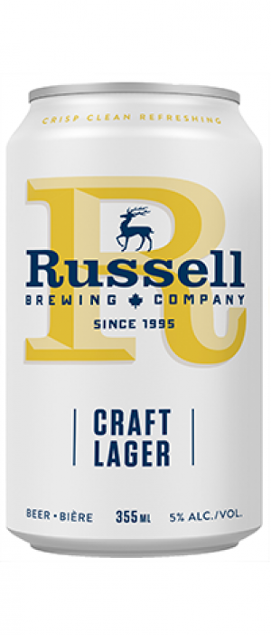 Craft Lager by Russell Brewing Company in British Columbia, Canada