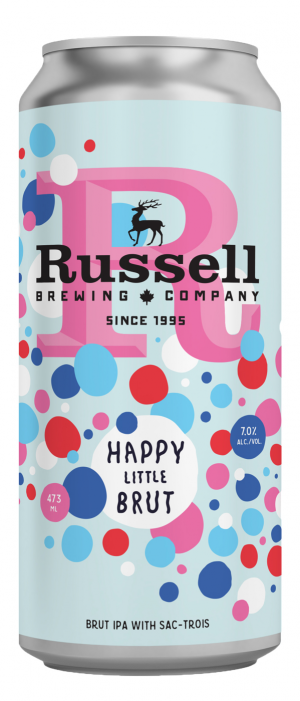 Happy Little Brut by Russell Brewing Company in British Columbia, Canada