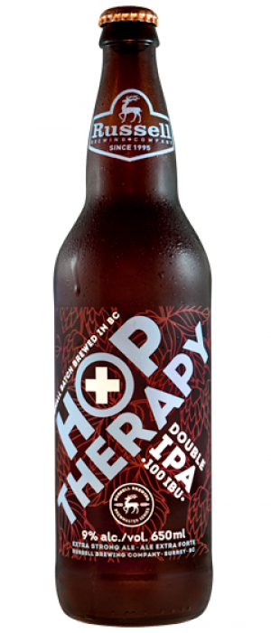 Hop Therapy Double IPA by Russell Brewing Company in British Columbia, Canada