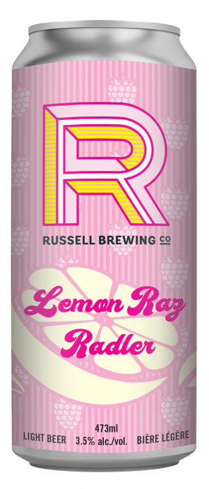 Lemon Raz Radler by Russell Brewing Company in British Columbia, Canada