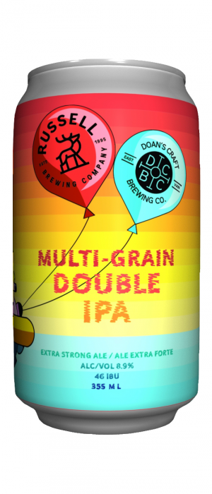 Multi-Grain Double IPA (Collaboration with Doan's Craft Brewing) by Russell Brewing Company in British Columbia, Canada