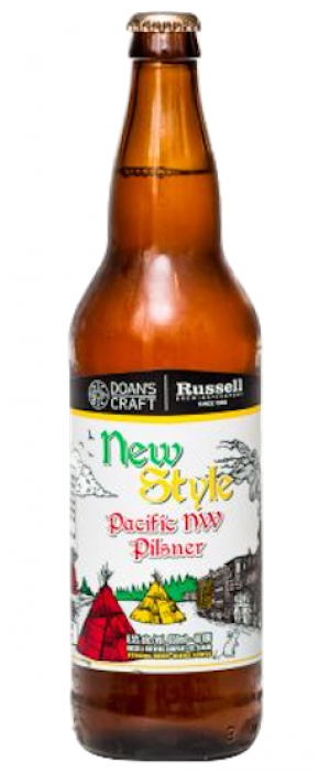 New Style Pacific NW Pilsner by Russell Brewing Company in British Columbia, Canada