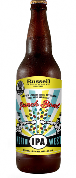 Punch Bowl North West IPA by Russell Brewing Company in British Columbia, Canada