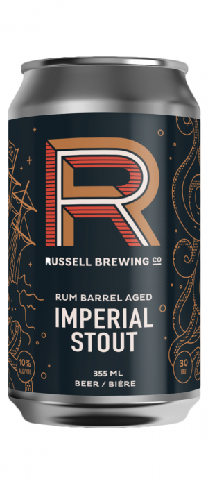 Rum Barrel Aged Imperial Stout by Russell Brewing Company in British Columbia, Canada
